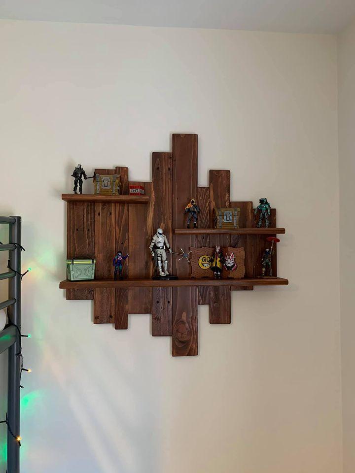 Rustic Wooden Shelf Unit