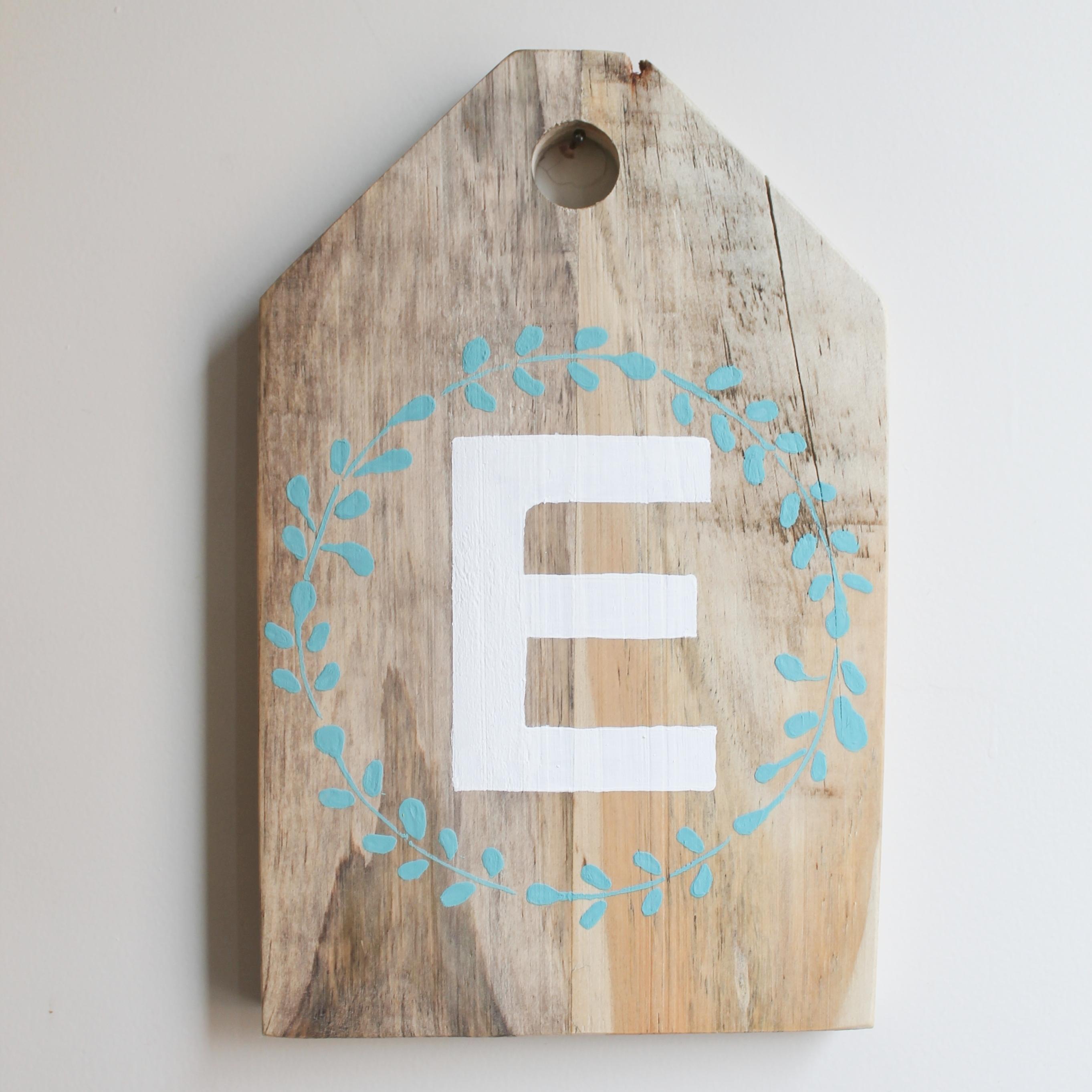 Eucalyptus Hoop themed HOME sign