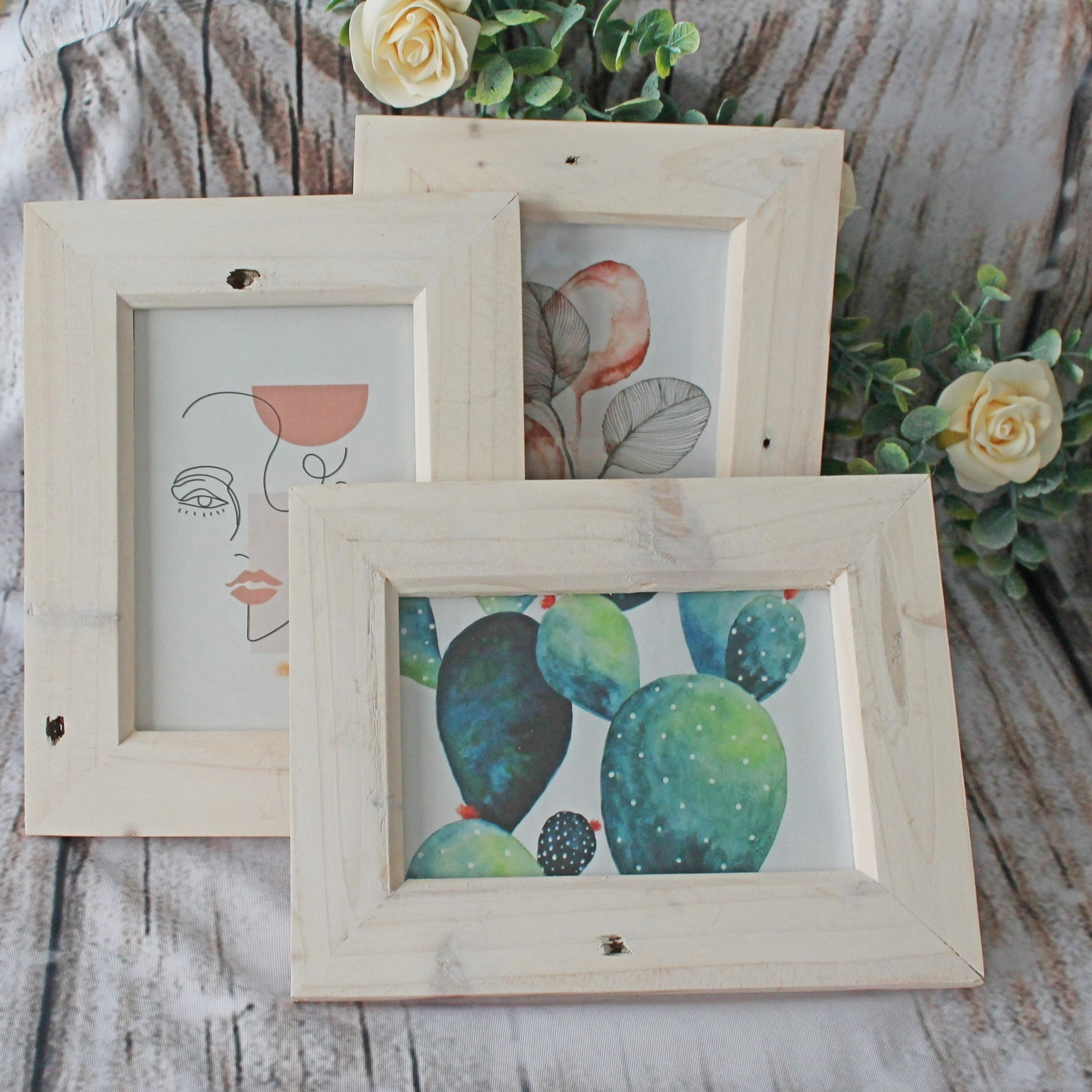 Natural Hanging Wooden Frames 6x4