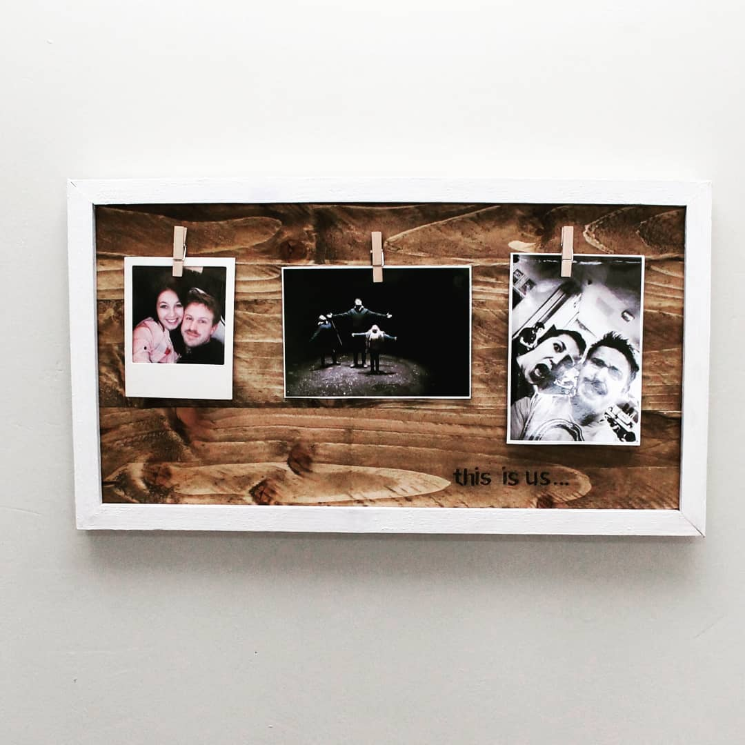 Natural Wood Personalised Photo Frame