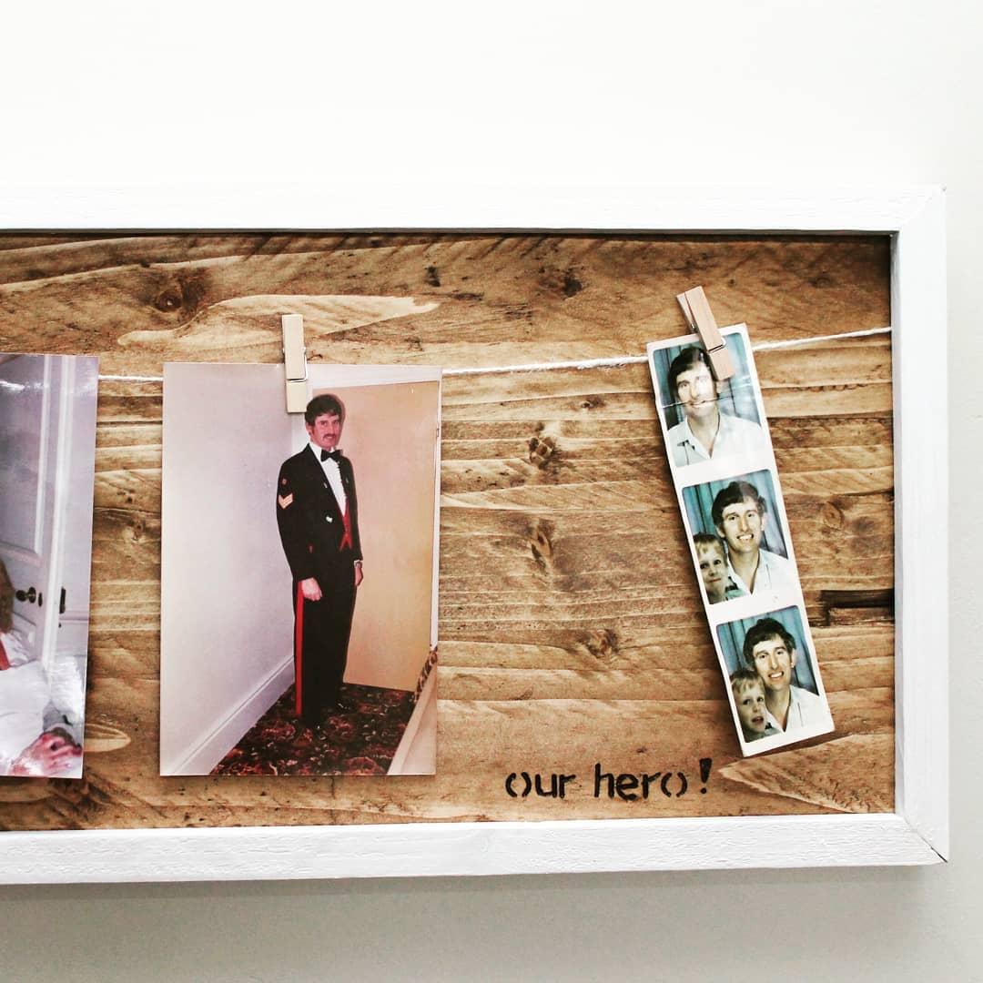 Natural Wood Personalised Photo Frame