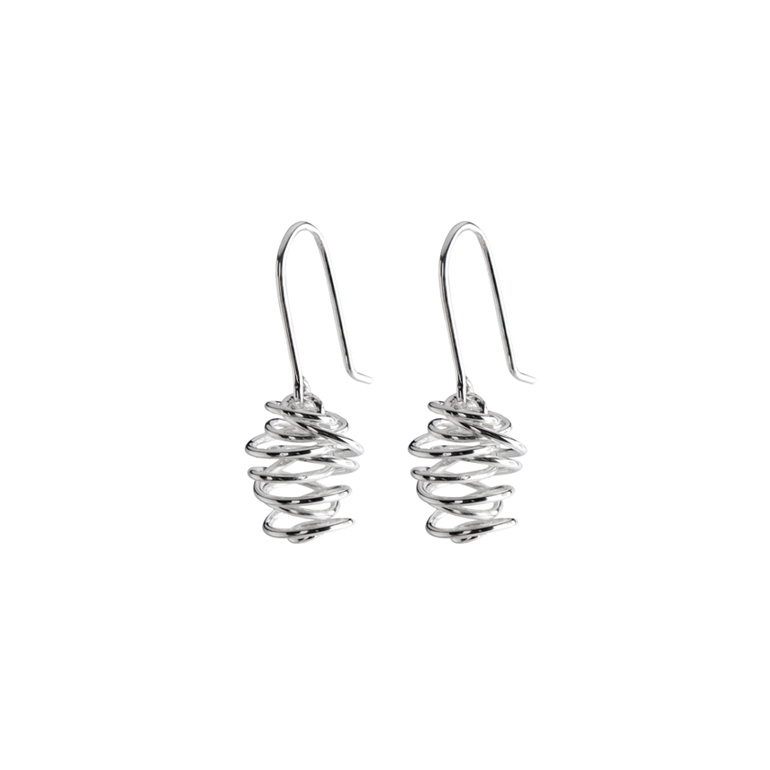Cashmere Earrings, Sterling Silver By Chris Lewis