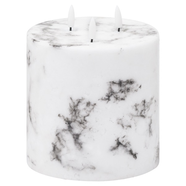 Luxe Collection, Natural Glow Marble Effect LED Candle