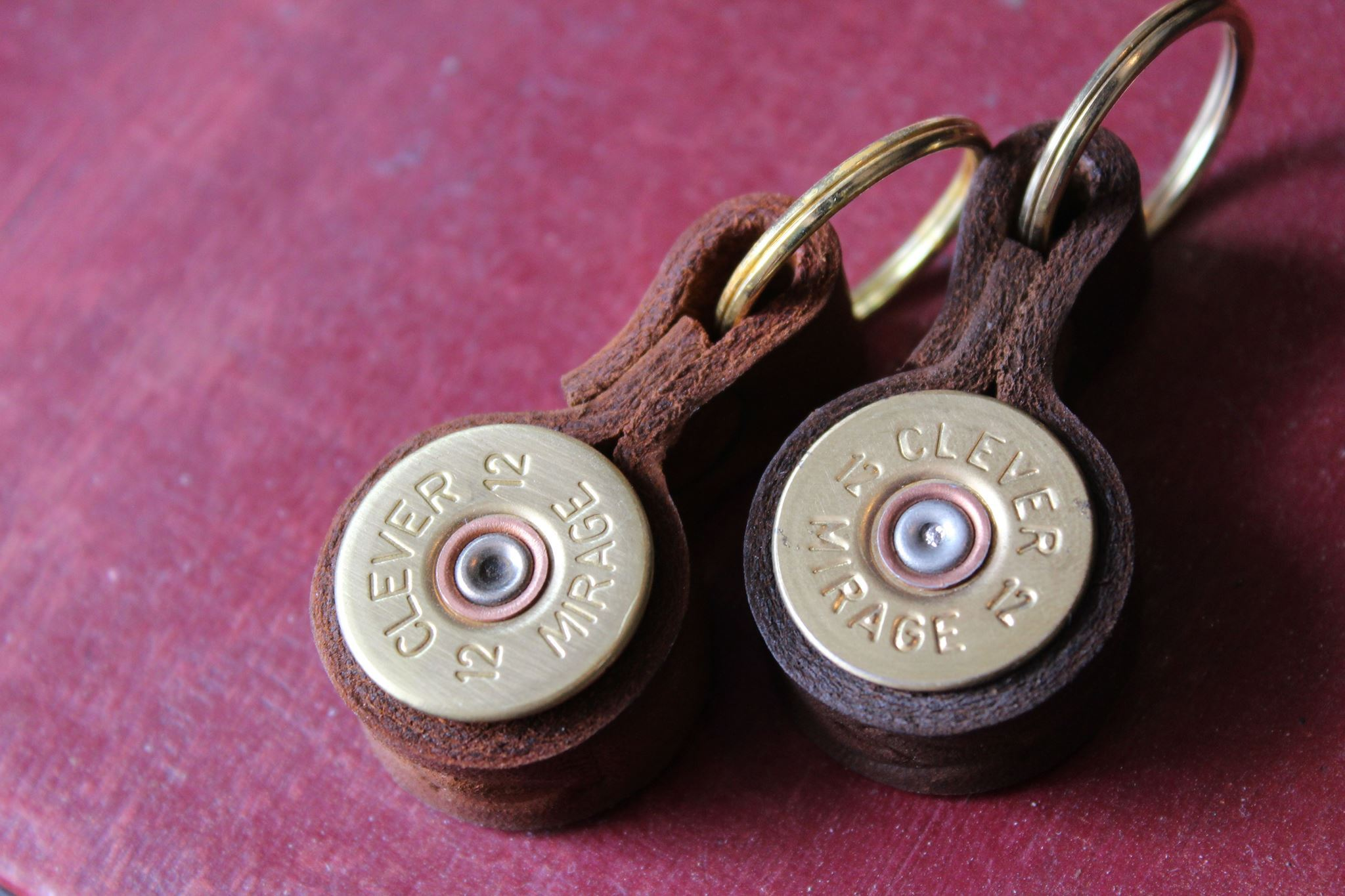 J. Boult Designs - Shotgun Cartridge Key Ring with Leather Strap