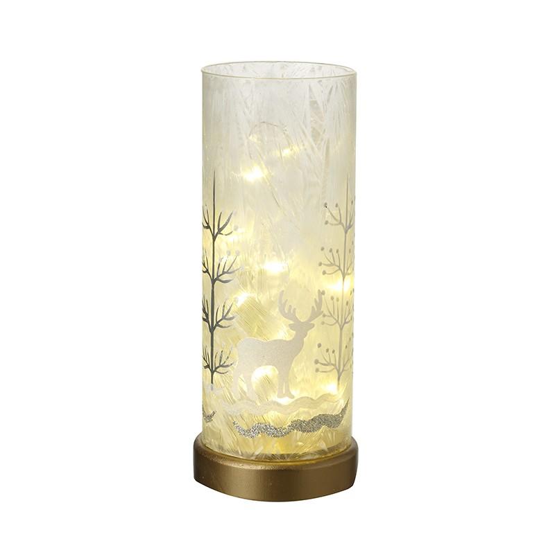 LED Glass Winter Scene (Large)