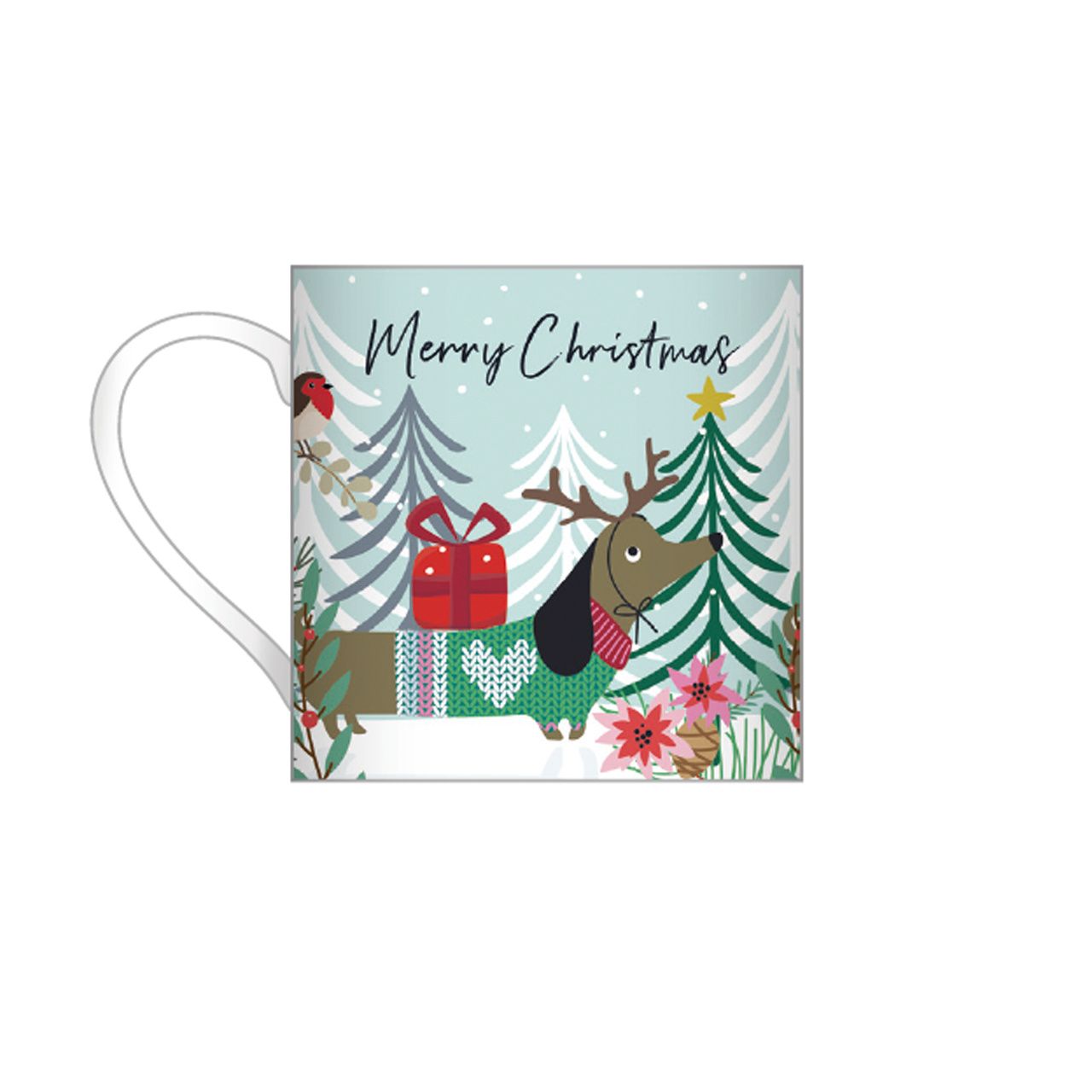 Belly Button Bubble, Christmas Sausage Mug