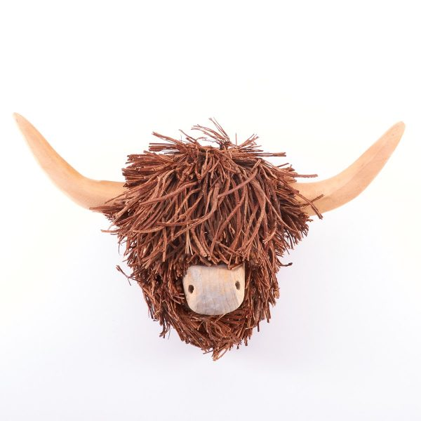 Voyage Highland Cow Hanging Wall Sculpture