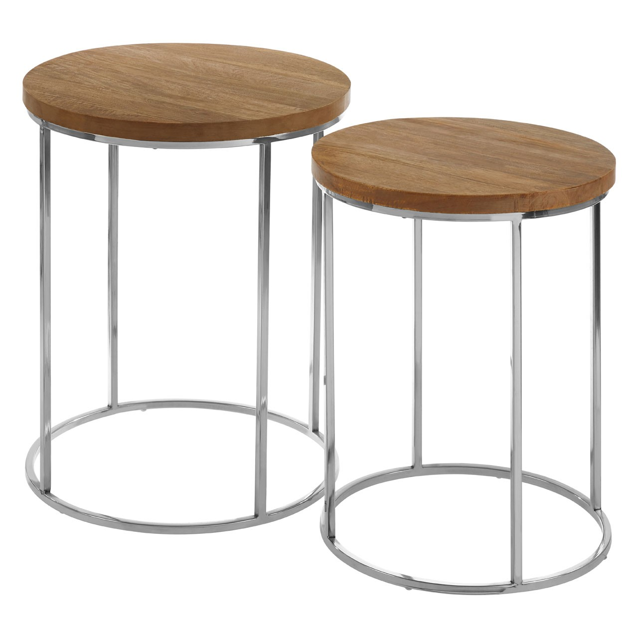 Agra Round Side Tables, Set Of 2