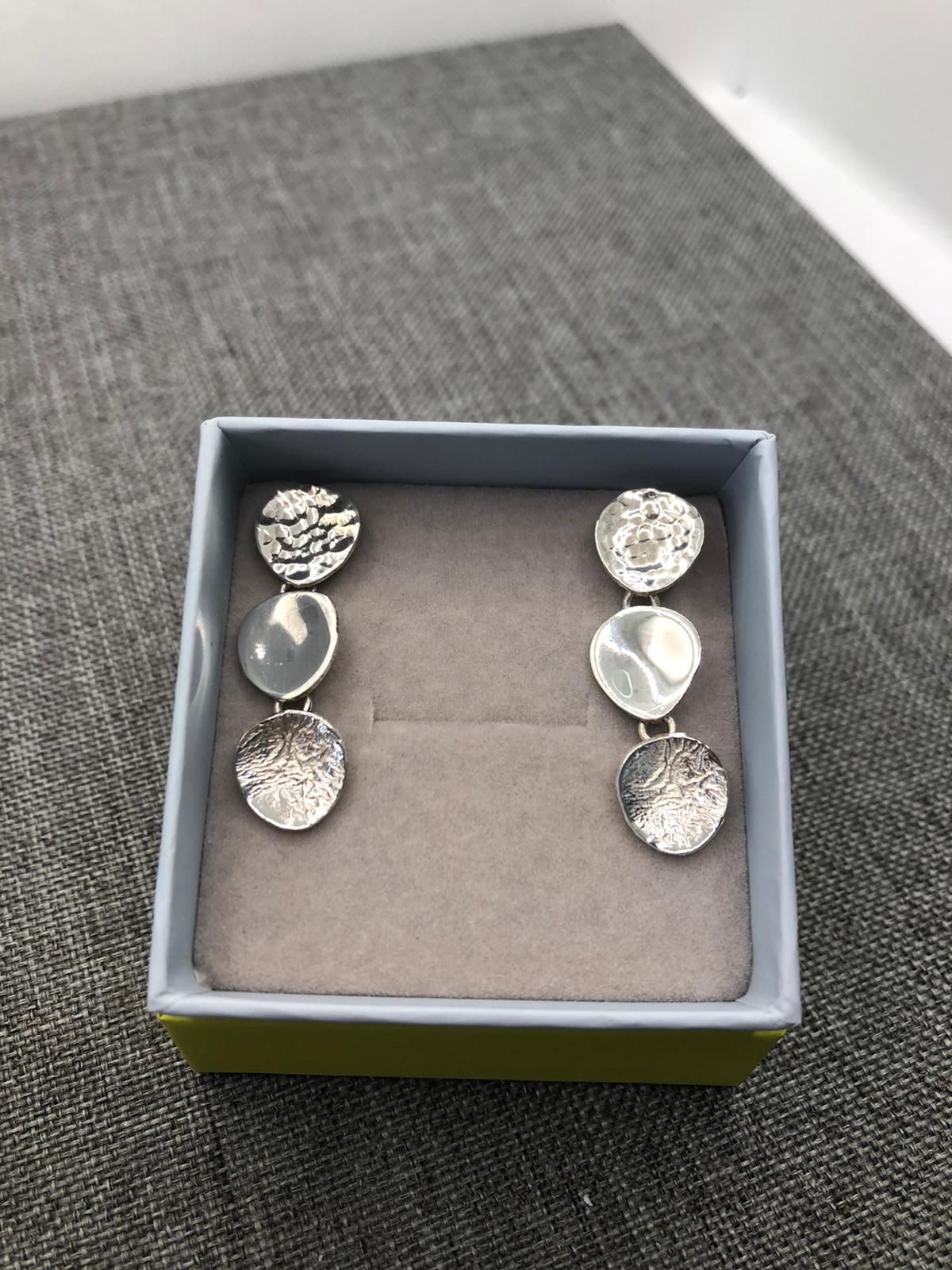 Stepping Stones Earrings, Sterling Silver by Chris Lewis