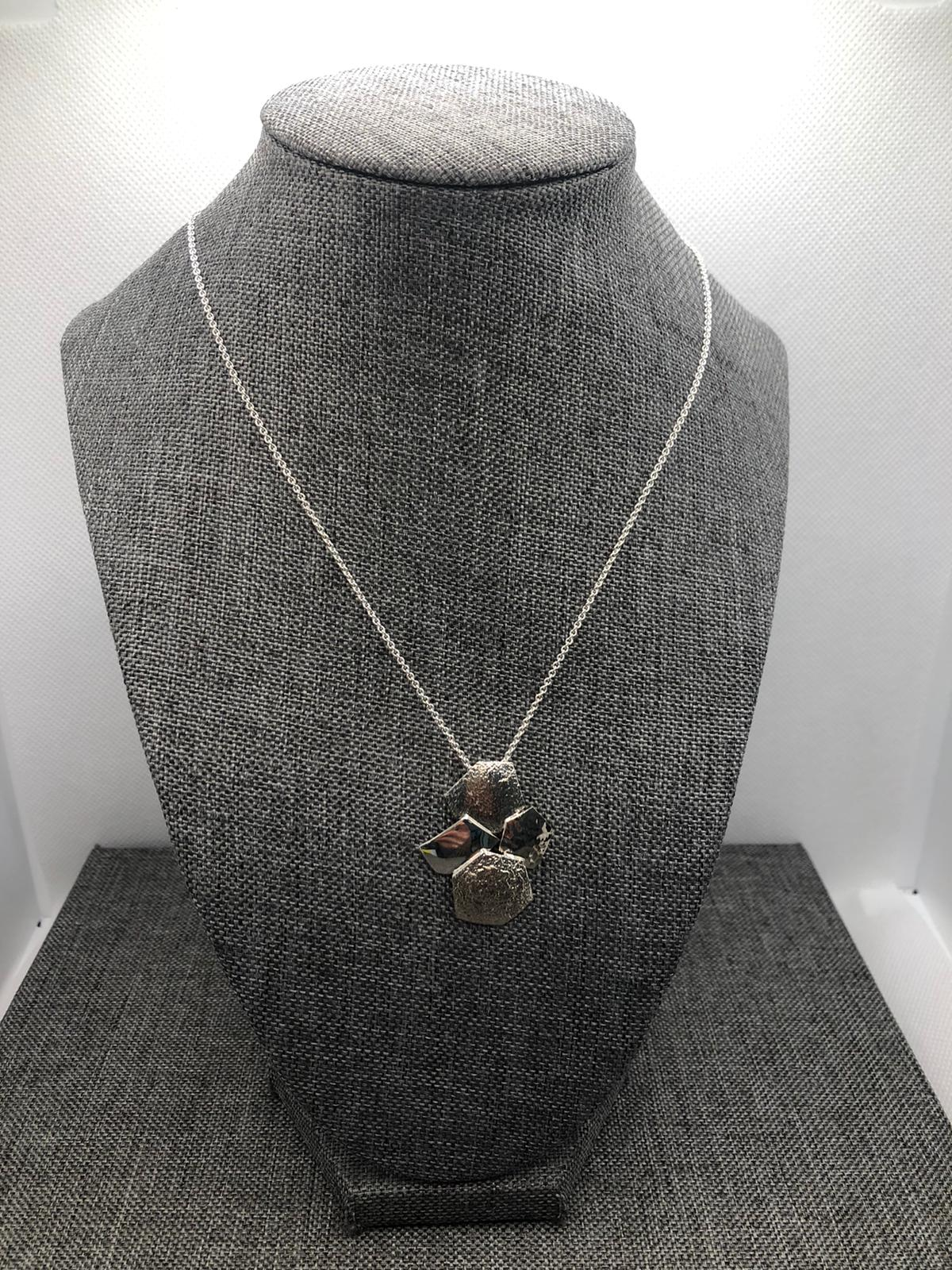 Pavement Necklace, Sterling Silver by Chris Lewis