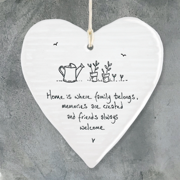 East Of India, Wobbly Porcelain Hanging Hearts