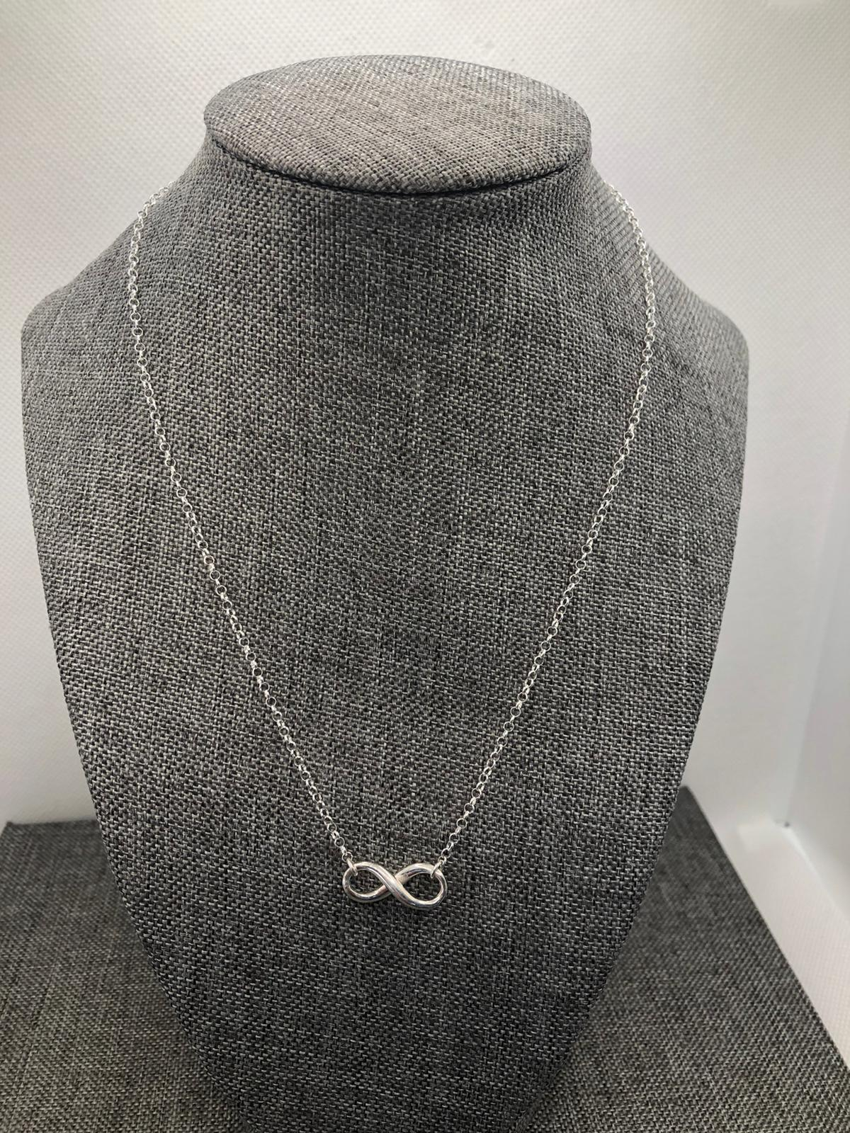 Infinity Necklace, Sterling Silver  (Polished Finish) by Chris Lewis