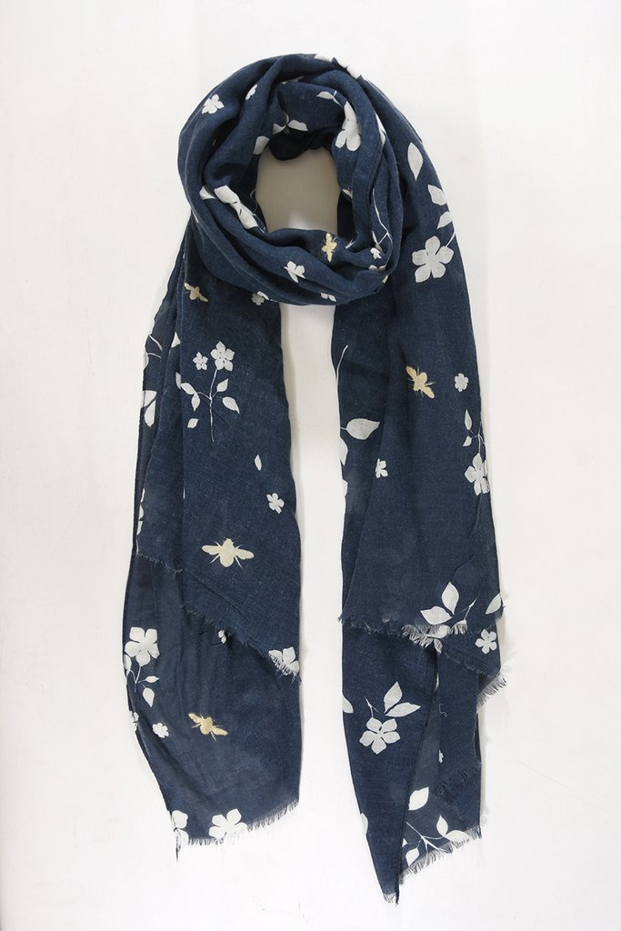 MSH Navy Blue / Gold Bumble Bee Scarf