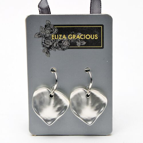 Eliza Gracious Heart Drop Earrings