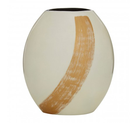 Alma White / Gold Small Vase