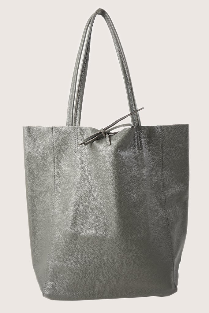 MSH Dark Grey Leather Shopper
