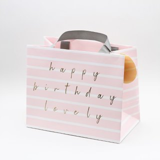 Belly Button Bubble, Pink Stripe Gift Bags