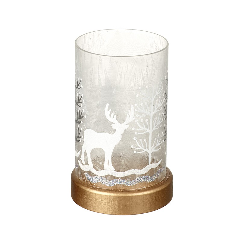LED Glass Winter Scene (Small)