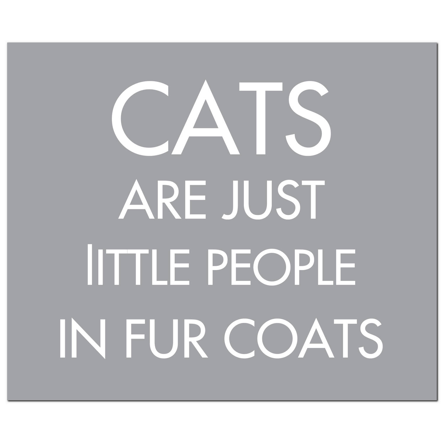 Hill Interiors 'Cats Are Just Little People' Silver Foil Plaque
