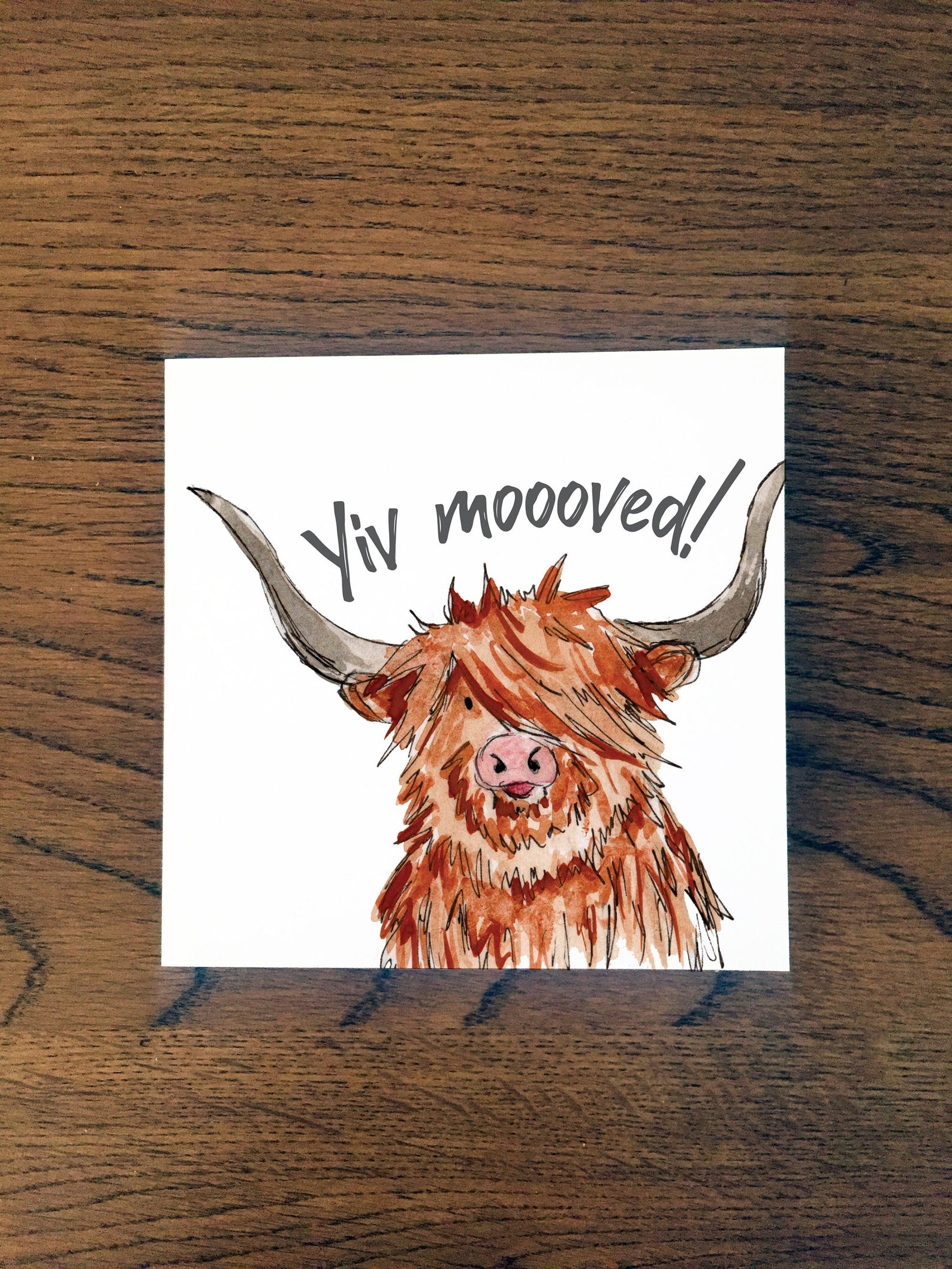 Doric Cards,  Scottish New House Card - Yiv Moooved!