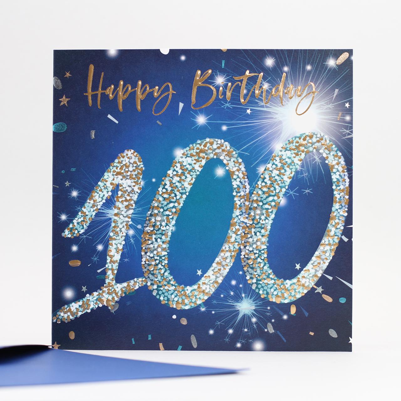 Belly Button Designs 100th Birthday Blue