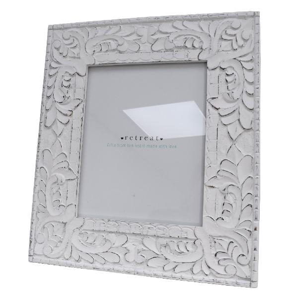 Retreat White Ornate White Photo Frames