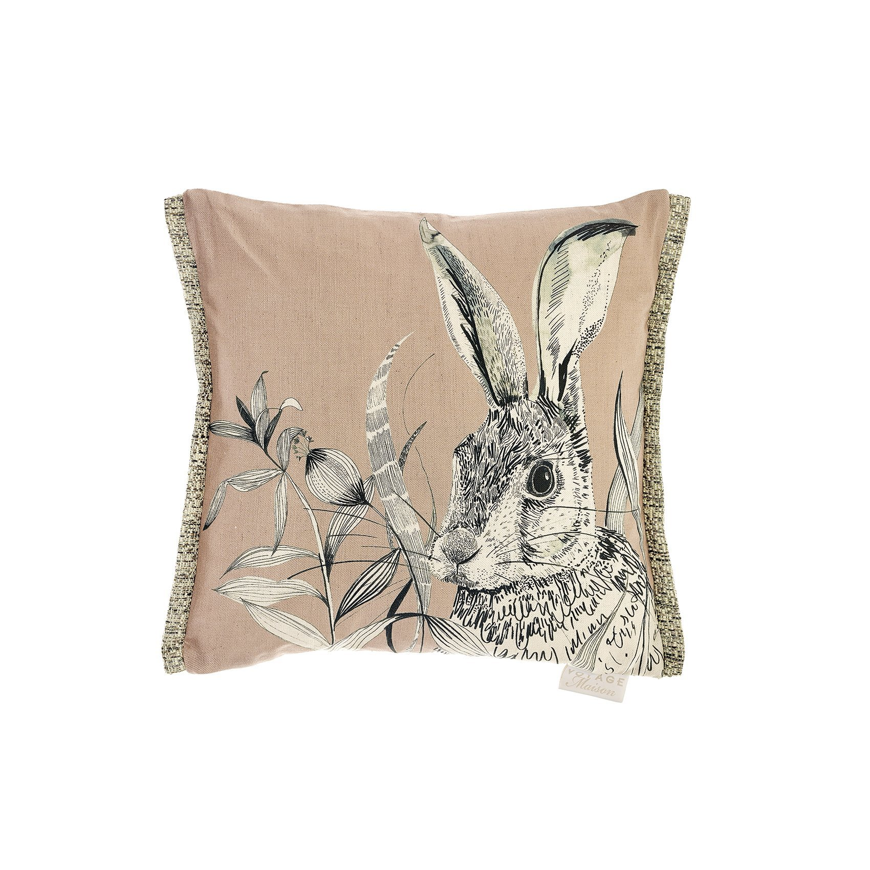 Voyage Blush Hare Cushion