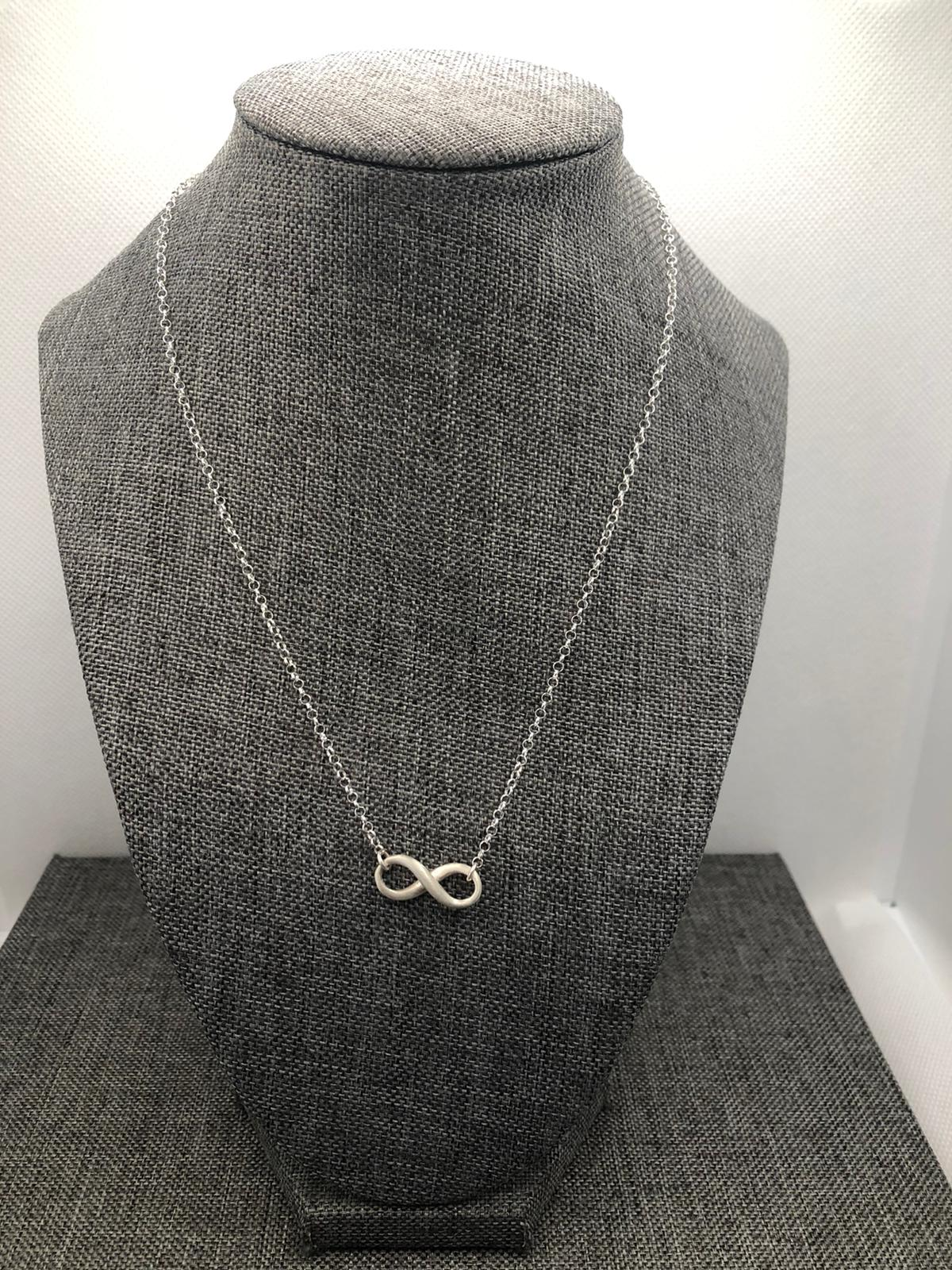 Infinity Necklace, Sterling Silver (Matt Finish) by Chris Lewis