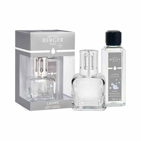 Maison Berger Transparent Ice Cube Lamp Berger Gift Pack