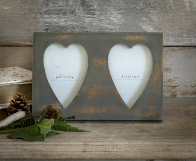 Vintage Double Heart Picture Frame