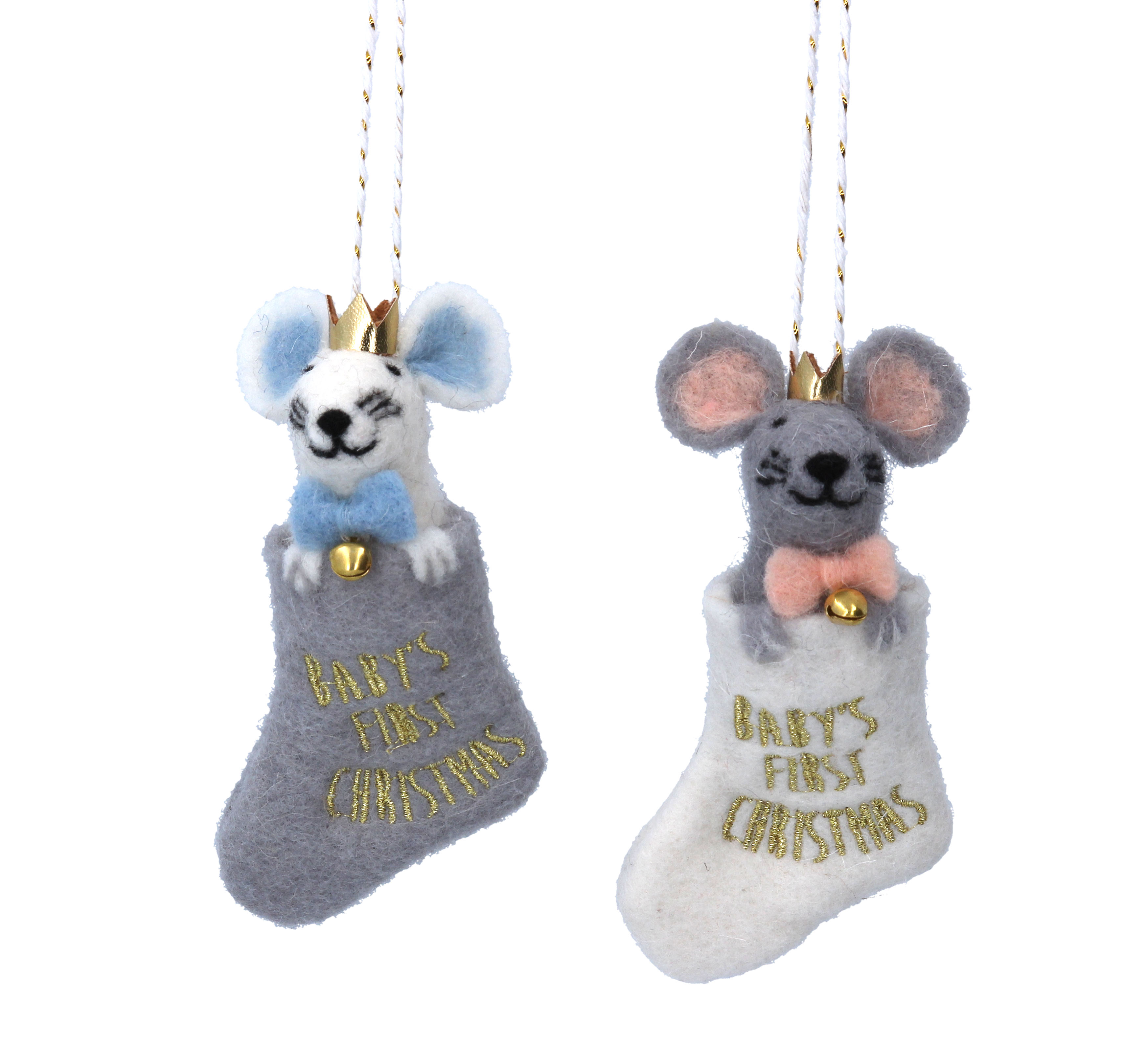 Baby's First Christmas Mouse in Stocking