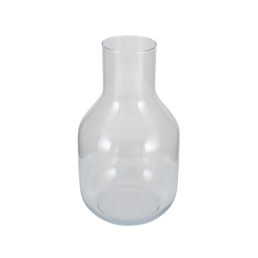 Clear Glass Maple Vase, Small