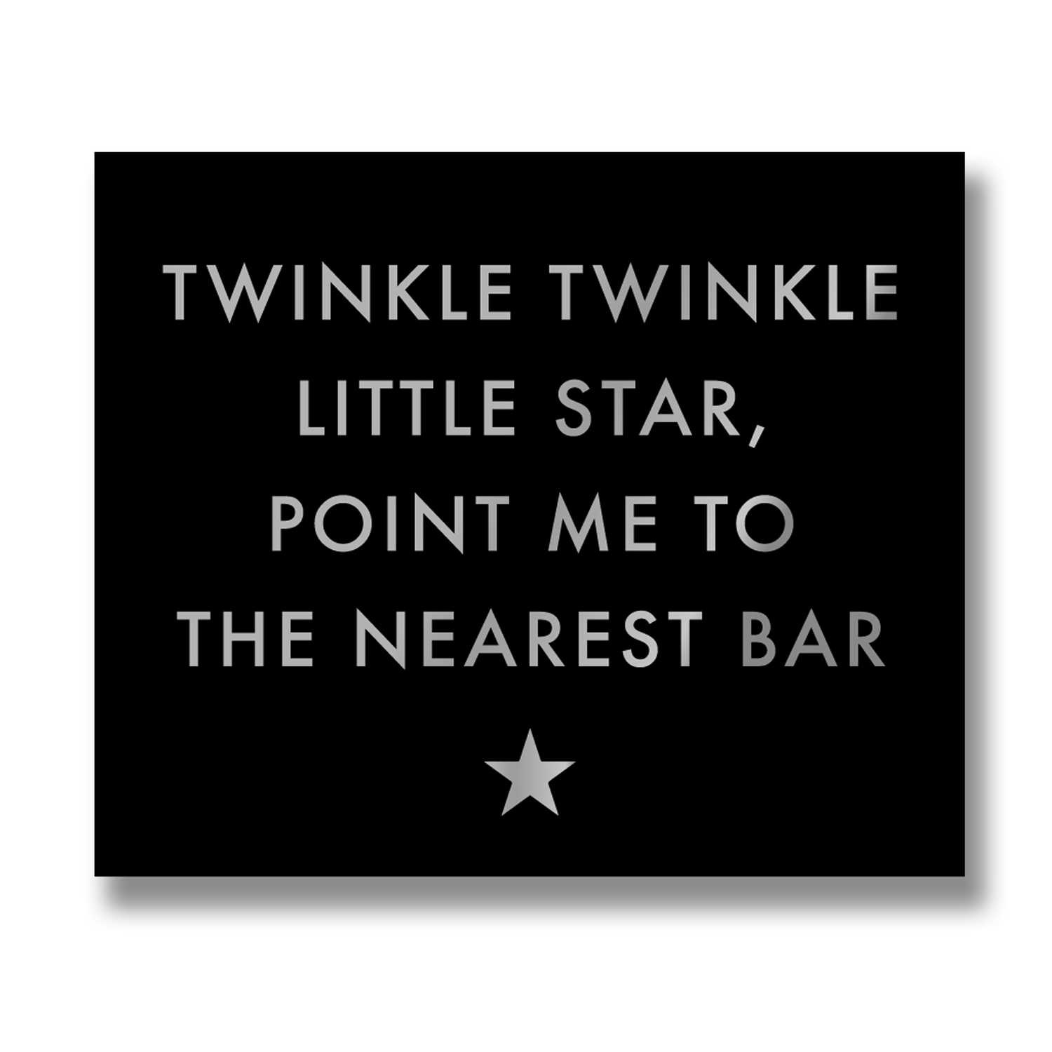 Hill Interiors 'Twinkle Twinkle' Silver Foil Plaque