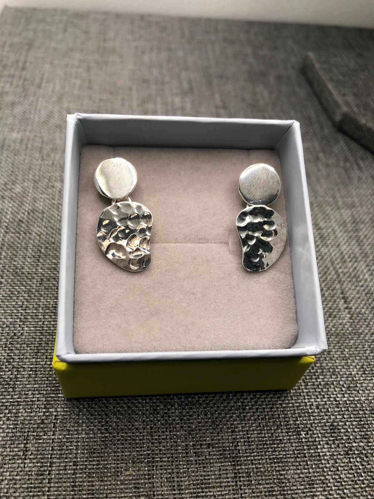 Concha Earrings, Sterling Silver by Chris Lewis