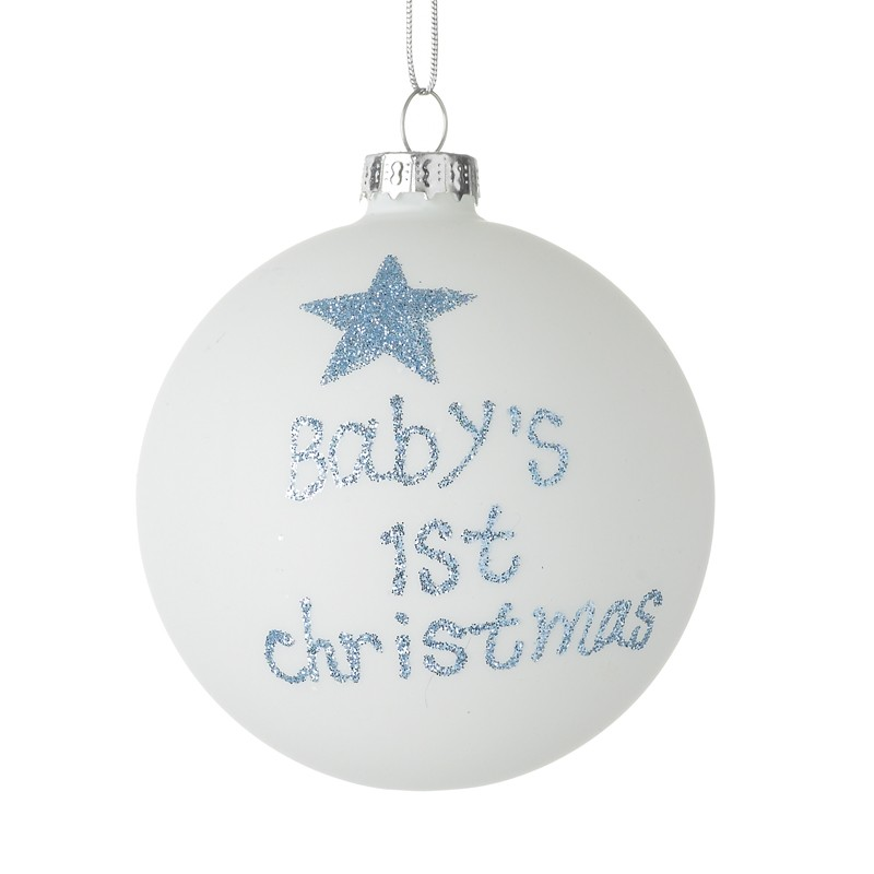 Baby Boy's 1st Christmas Bauble