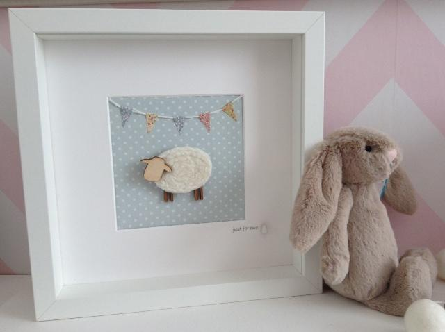 Southbeach Designs, Baby Blue Sheep Frame