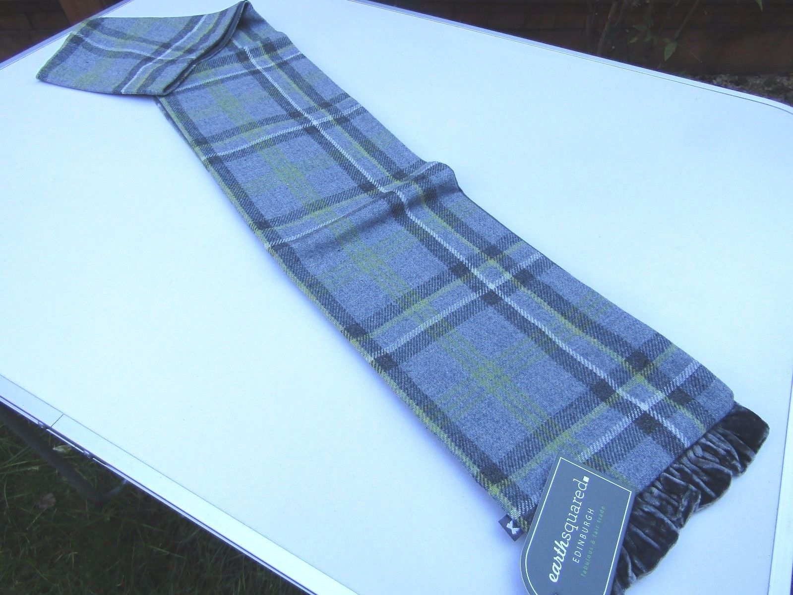 Earth Squared Tweed Scarf, Storm