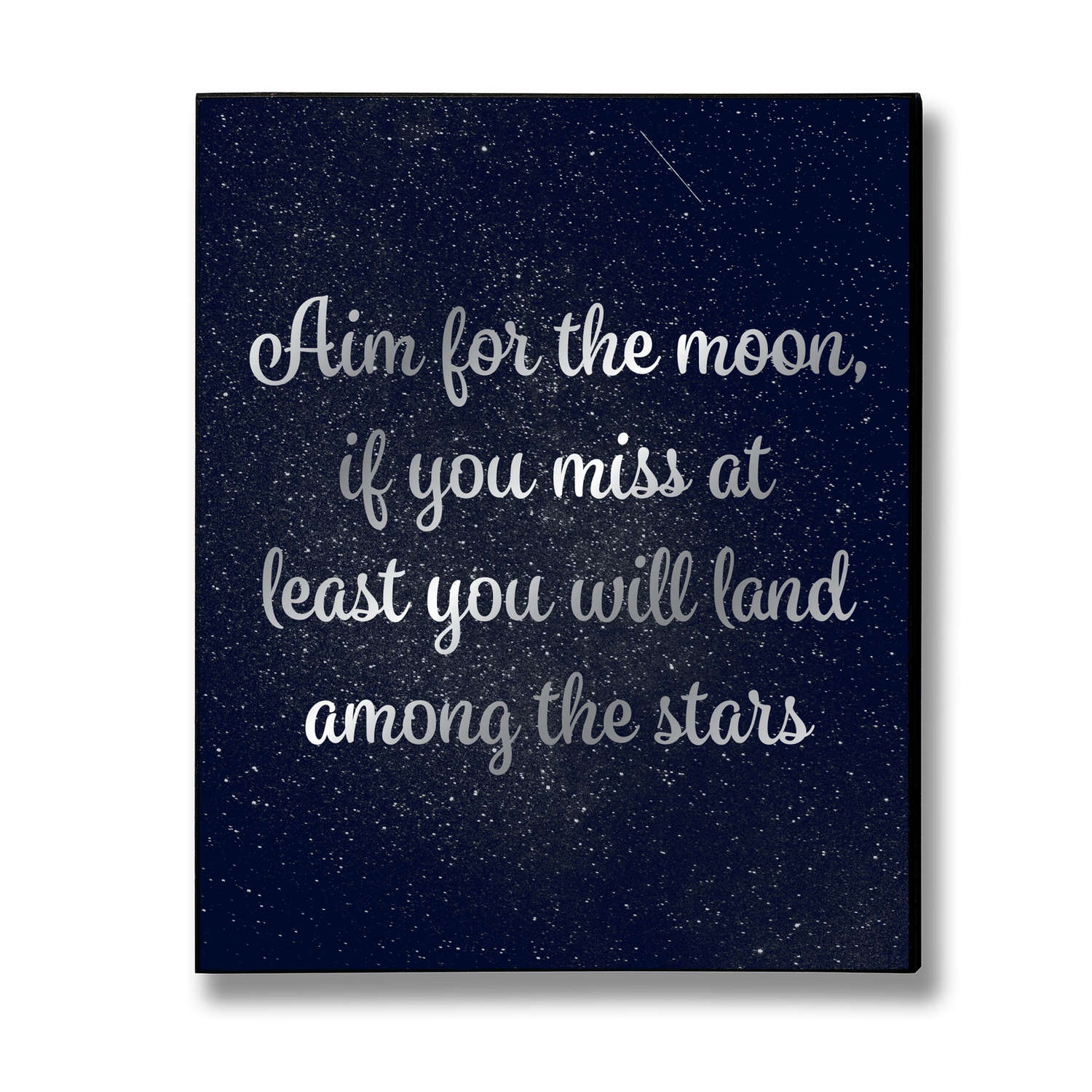 Hill Interiors 'Aim For The Moon' Silver Foil Plaque