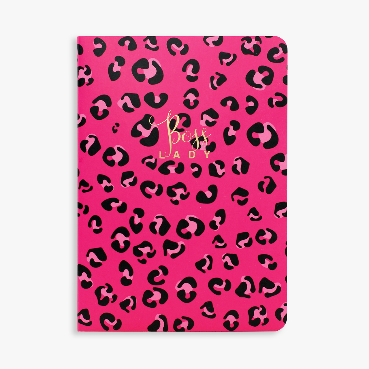 Belly Button Bubble, Leopard Print Notebook