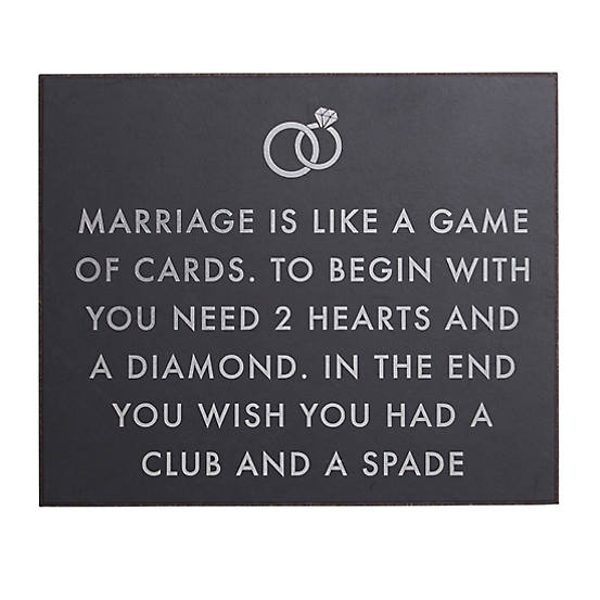 Hill Interiors 'Marriage Is Like' Metallic Detail Plaque