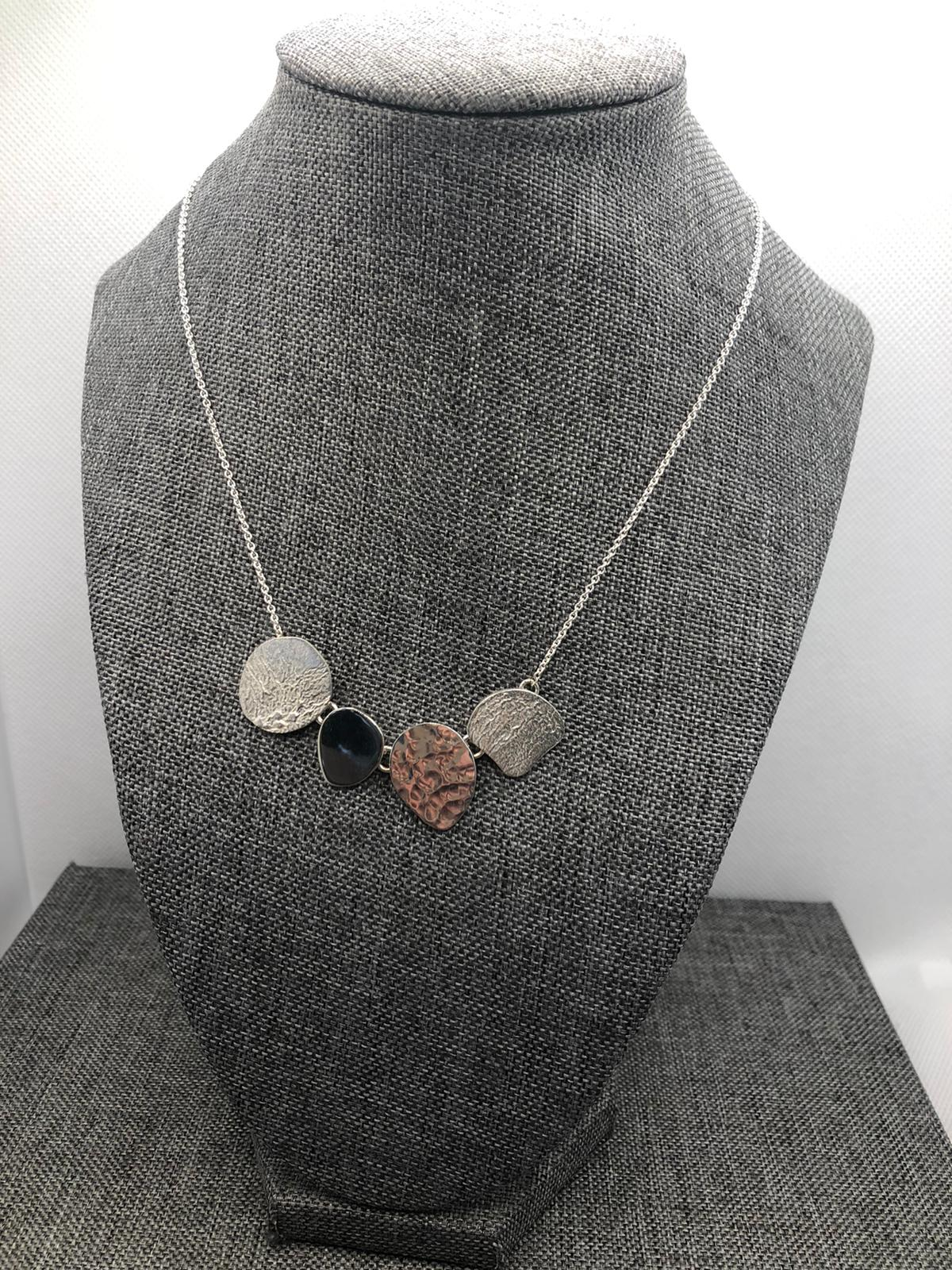 Concha Collar, Sterling Silver by Chris Lewis