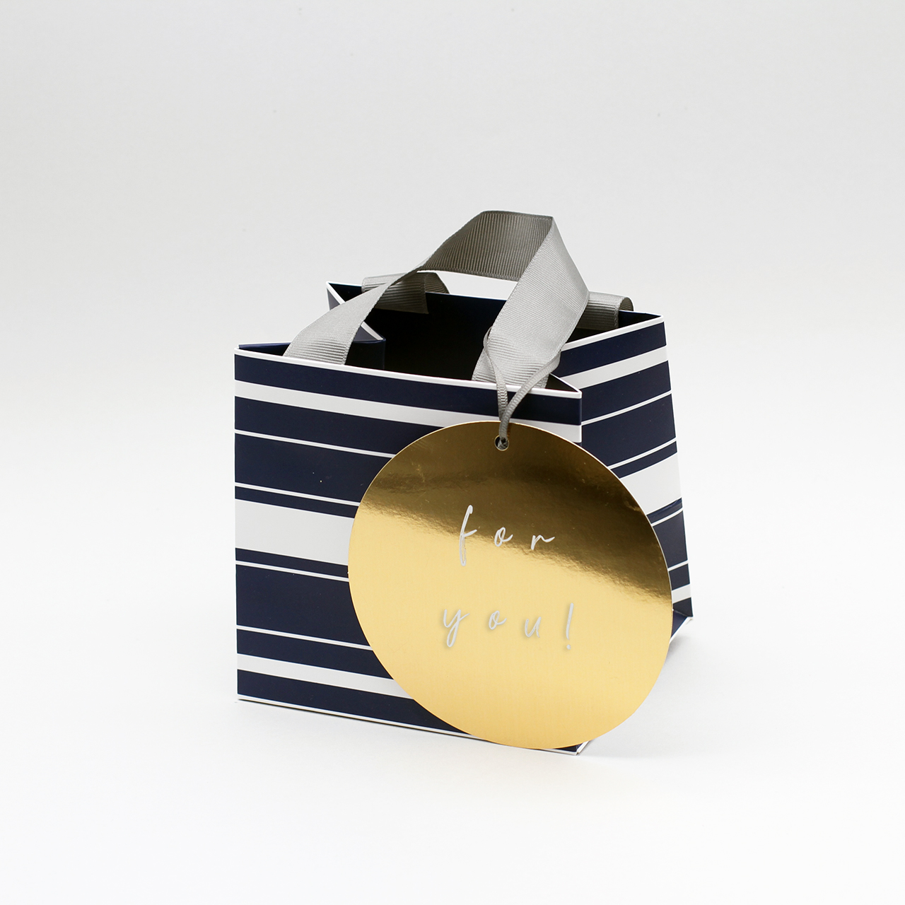 Belly Button Bubble, Navy Stripe Gift Bags