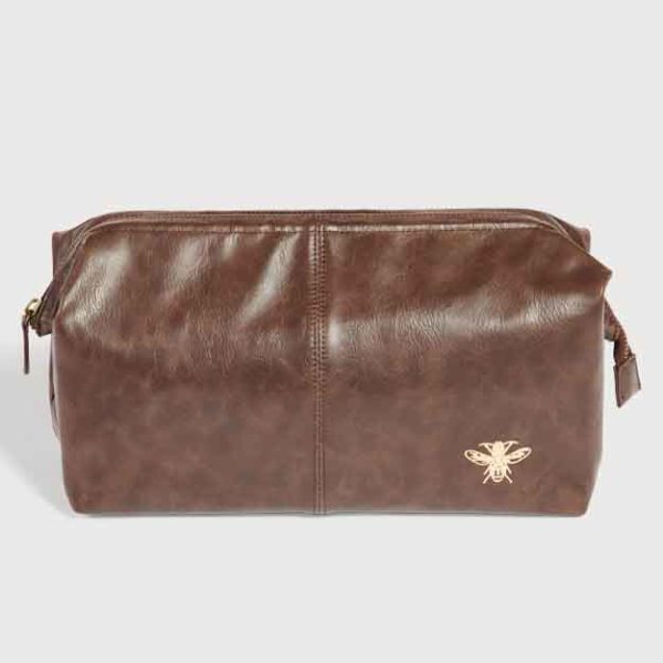 Quintessential Doctor Wash Bag, Brown