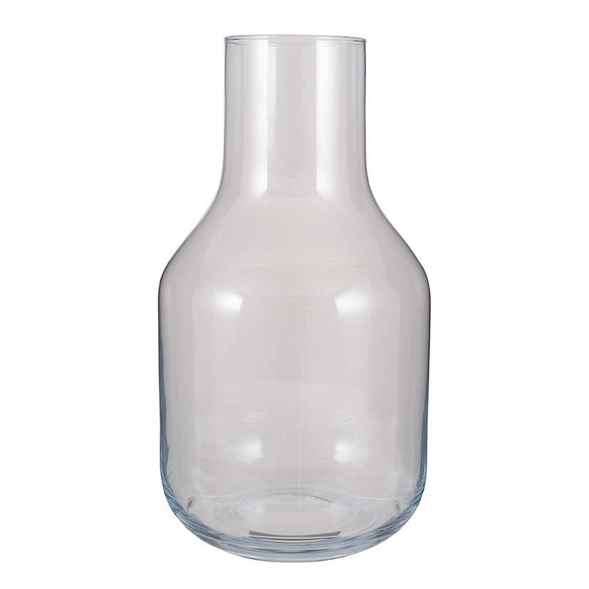 Clear Glass Maple Vase, Large