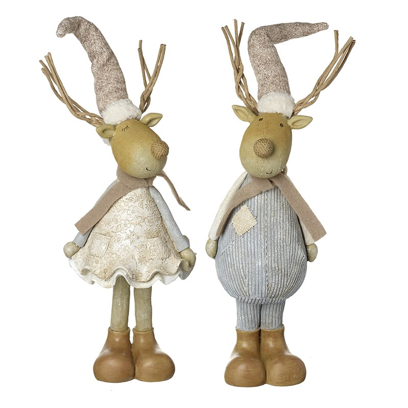 Boy / Girl Reindeers In Long Hats