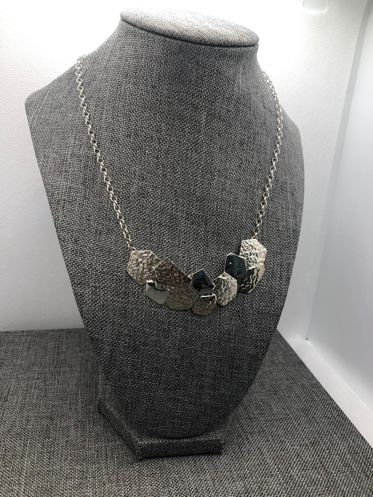 Pavement Summer Necklace, Sterling Silver by Chris Lewis