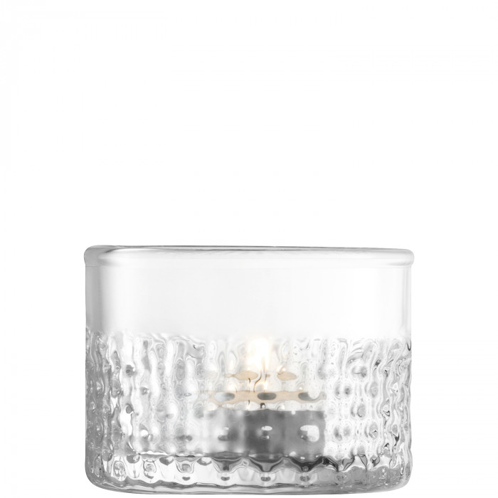 LSA Wicker Tea Light Holder, Clear - 6.5cm