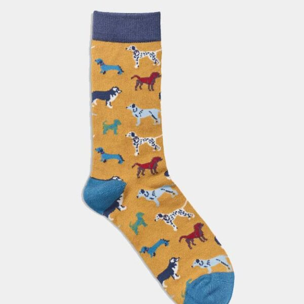 Quintessential Womans Socks, Dogs Mustard