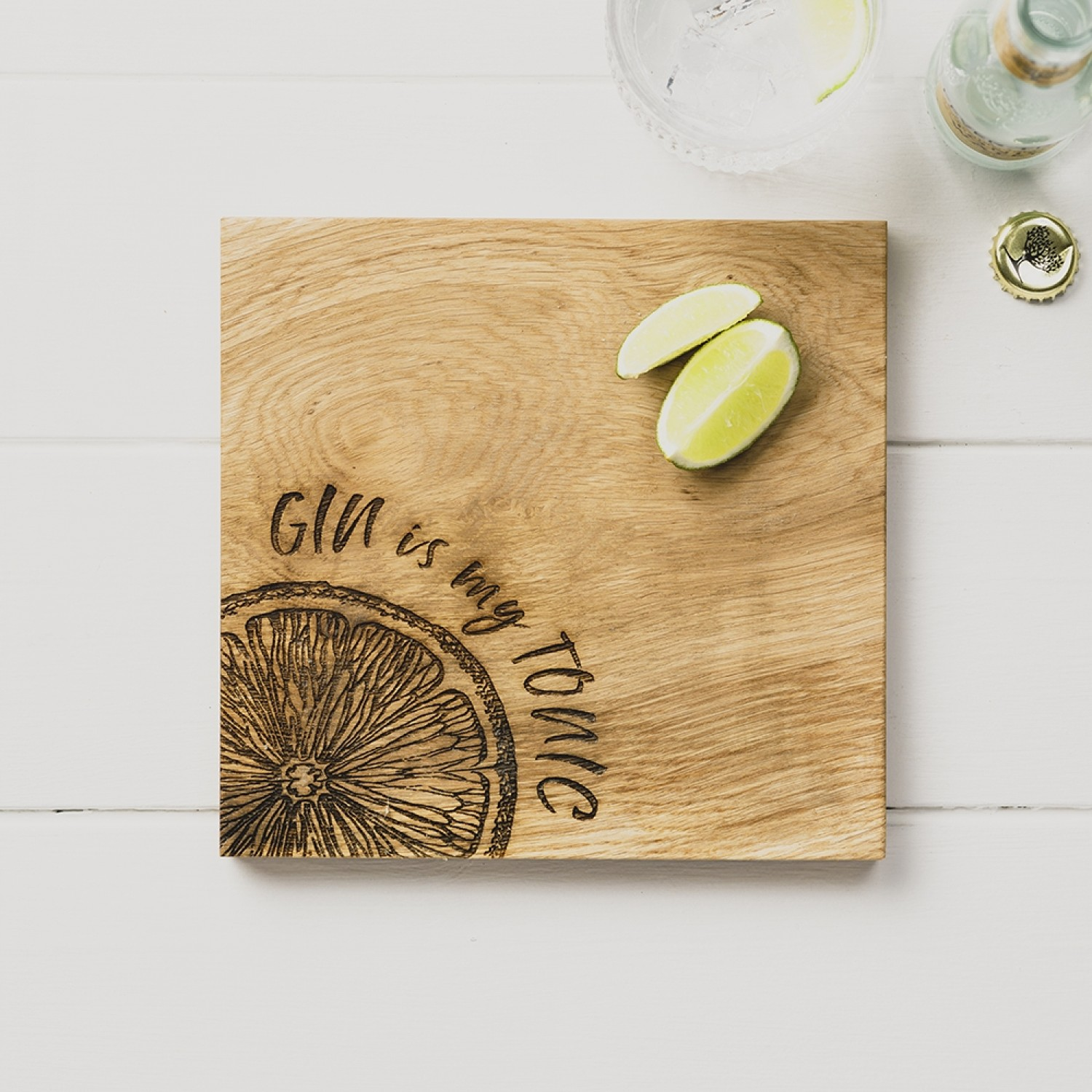 The Just Slate Company Chopping Board (Gin Is My Tonic) 21cm