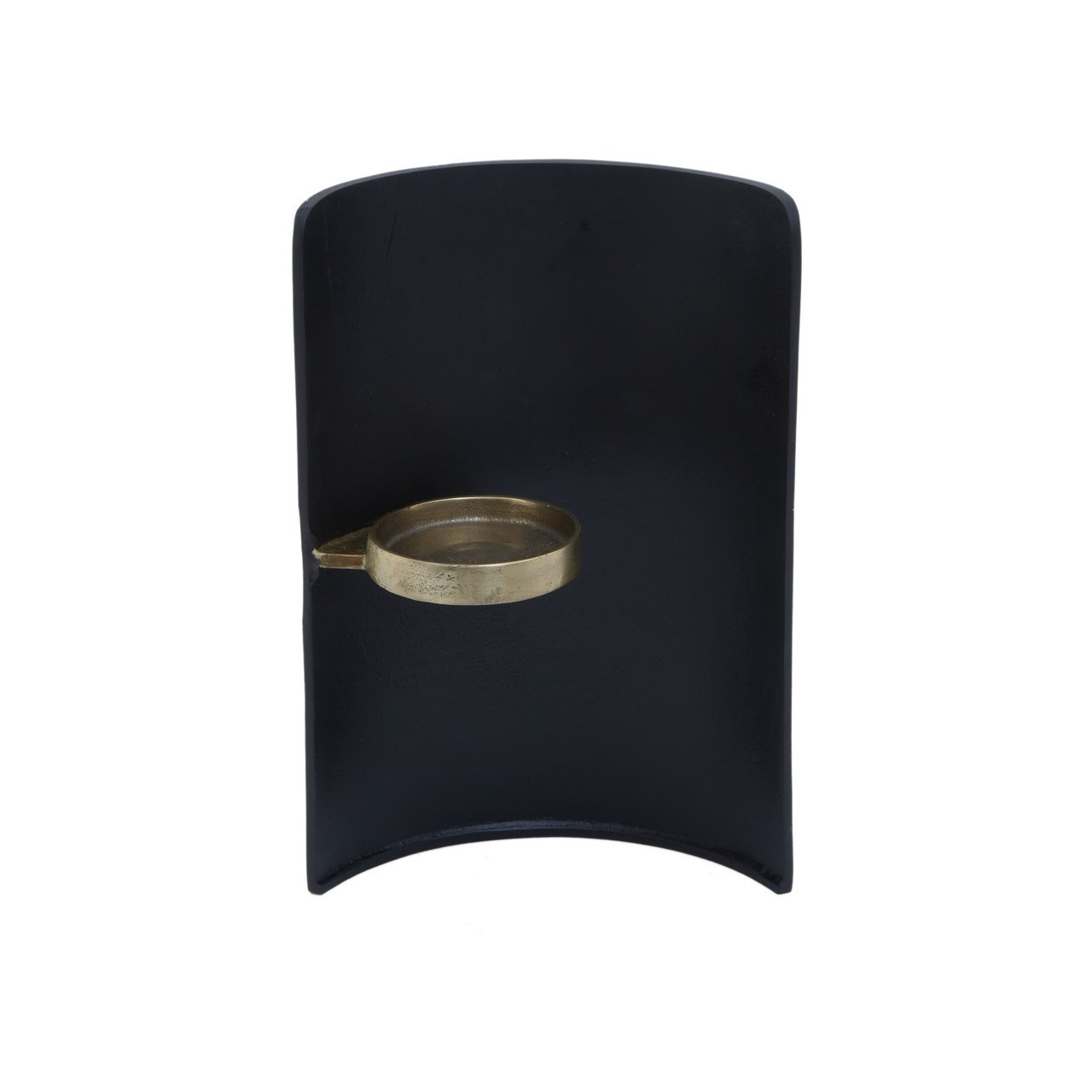 Daito Black Gold Finish Candle Holder